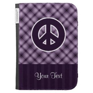 Purple Peace Sign Kindle Case