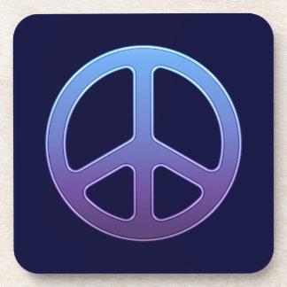 Purple Peace Sign Drink Coasters