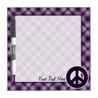 Purple Peace Sign Dry Erase Board