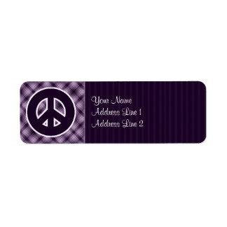 Purple Peace Sign Labels