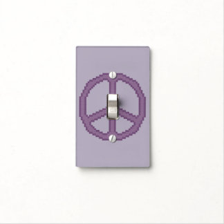 Purple Peace Sign Light Switch Cover