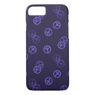 Purple Peace Sign Pattern iPhone 7 Case
