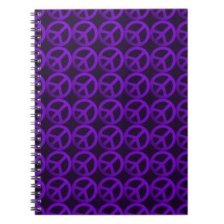 Purple Peace Sign Pattern Notebook
