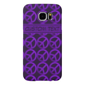 Purple Peace Sign Phone Case with Custom Text