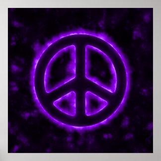 Purple Peace Sign Print