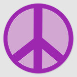 Purple Peace Sign T shirts, Hoodies, Mugs Round Stickers