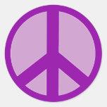 Purple Peace Sign T shirts, Hoodies, Mugs Round Stickers