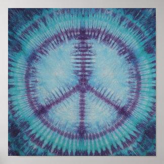 Purple Peace Sign Tie Dye