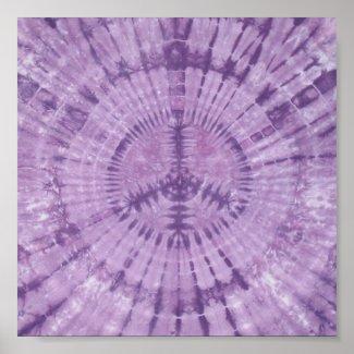Purple Peace Sign Tie Dye print