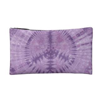 Purple Peace Sign Tie Dye Wristlet