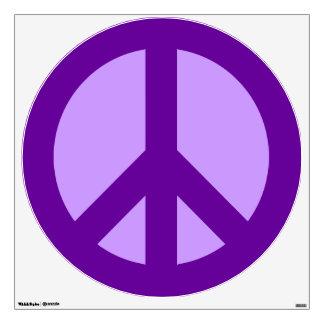 Purple Peace Sign Wall Sticker