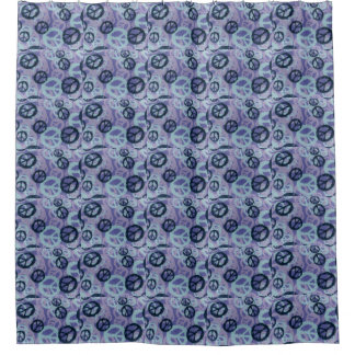 Purple Peace Signs Shower Curtain