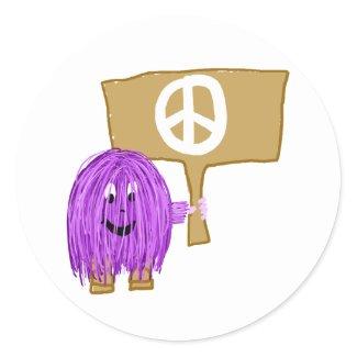 purple peace sticker