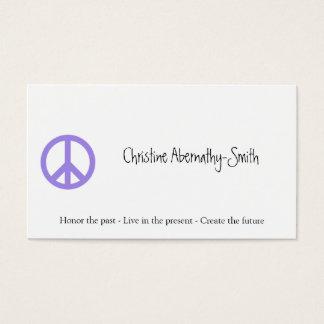 Purple Peace Symbol Business Card