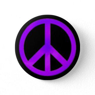 Purple Peace Symbol Button button