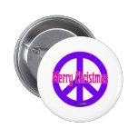 Purple Peace Symbol Button