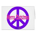 Purple Peace Symbol Card