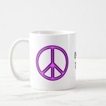Purple peace symbol coffee mug