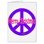 Purple Peace Symbol Greeting Cards