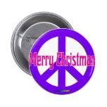 Purple Peace Symbol Pinback Button