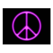 Purple Peace Symbol Postcard