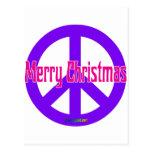 Purple Peace Symbol Postcard