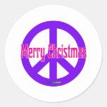 Purple Peace Symbol Sticker