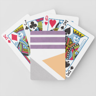 Purple Peach Grey Gray Stripes Phone Case iPhone Bicycle Playing Cards