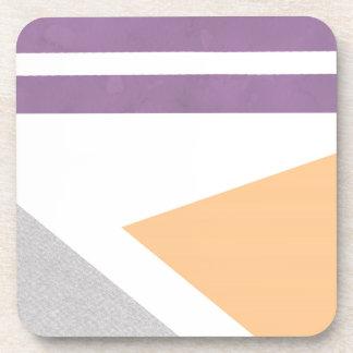 Purple Peach Grey Gray Stripes Phone Case iPhone Coaster