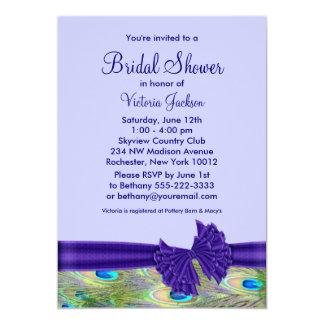 Purple Peacock Bridal Shower Card