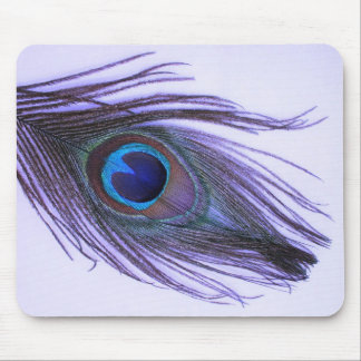 Purple Peacock Feather 2 Mouse Pad