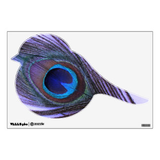Purple Peacock Feather Bird Wall Decal
