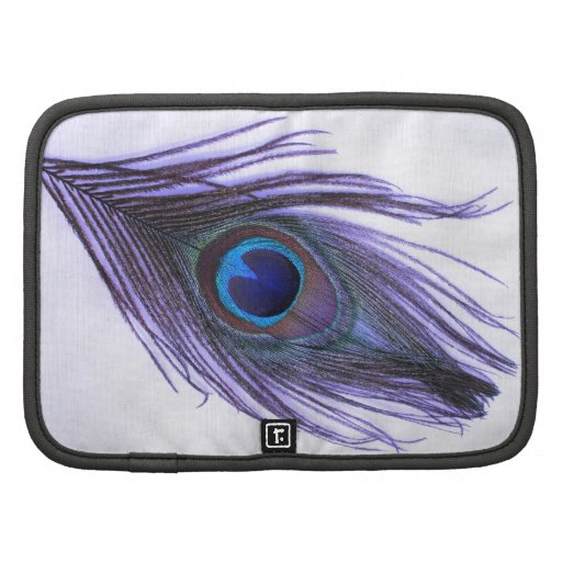 Purple Peacock Feather Folio Planners