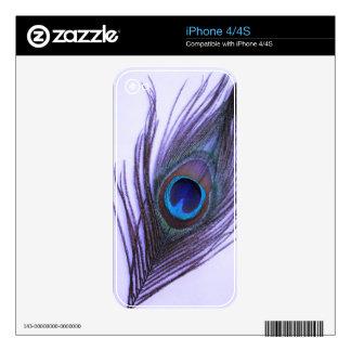 Purple Peacock Feather iPhone 4 Skin