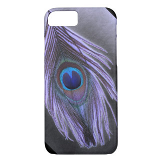 Purple Peacock Feather iPhone 7 case