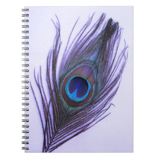 Purple Peacock Feather Notebook