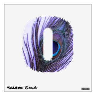 Purple Peacock Feather on Purple 0 Wall Decal