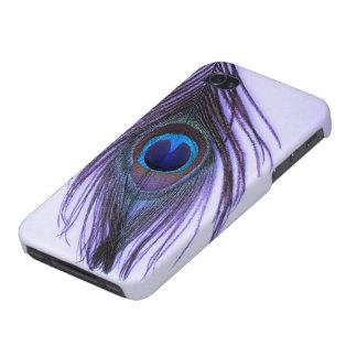 Purple Peacock Feather on Purple iPhone 4/4S Case