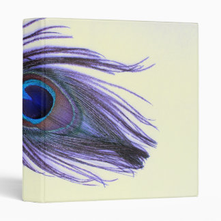 Purple Peacock Feather T Binder