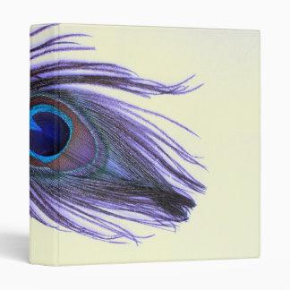 Purple Peacock Feather T Binder