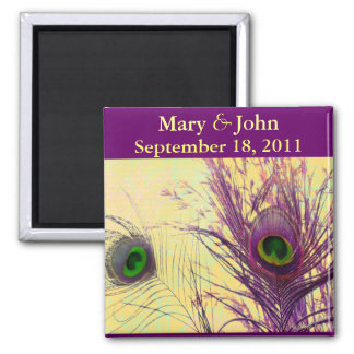 Purple Peacock Feathers Gifts Magnet
