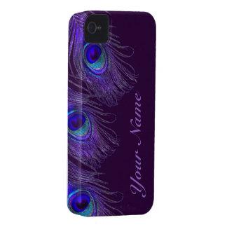 purple peacock iphone 4 case