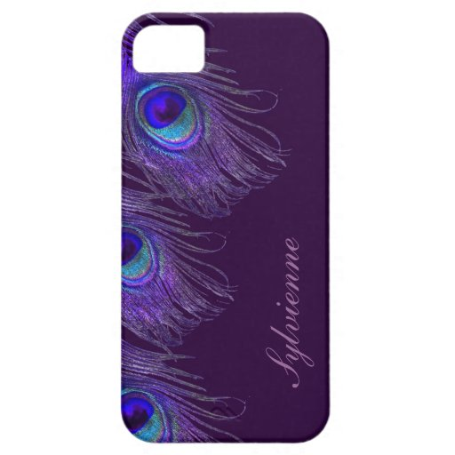 purple peacock iphone 5S case iPhone 5 Covers