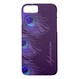 purple peacock iPhone 7 case