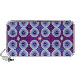 Purple Peacock Notebook Speaker