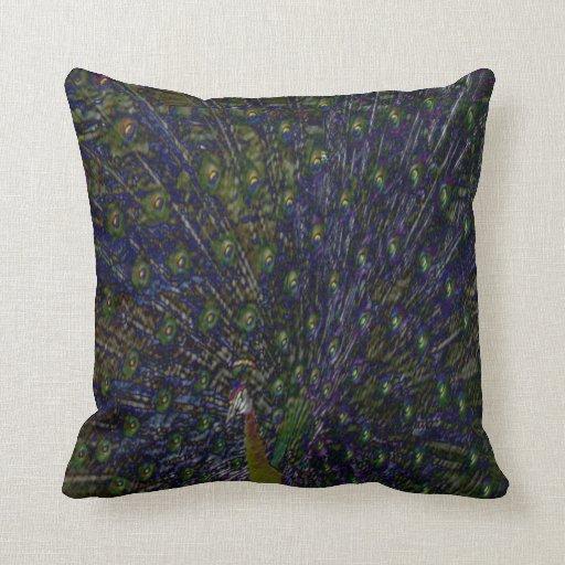 Purple Peacock Pillows