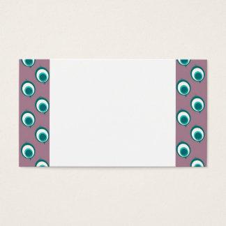 Purple Peacock Polka Dots Business Card