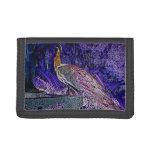 purple peacock sketch invert wallets