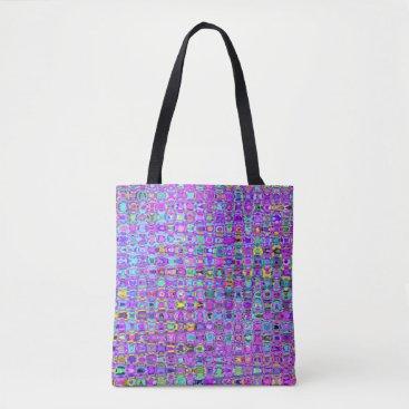 Mistflower Purple Peacock Tote Bag