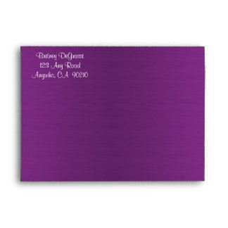 Purple Peacock Wedding Invitation Envelopes